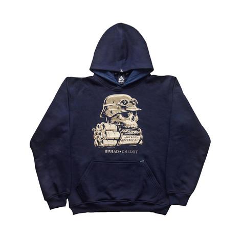 Buzo con capucha H - Azul oscuro