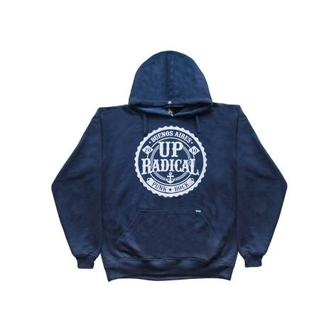Buzo con capucha H - Azul