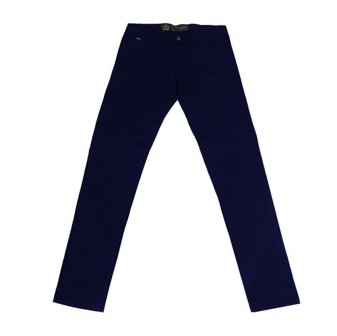 Pantalon chino gabardina H - Azul
