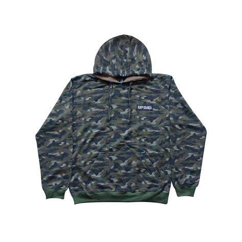 Buzo con capucha camuflado H - Verde