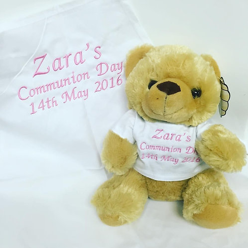 Communion bear and apron