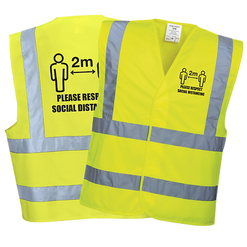 Social Distance Vests With Custom Logo