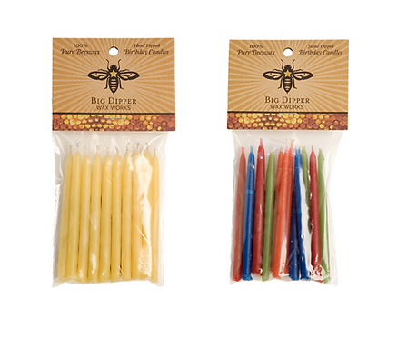 Big Dipper Beeswax Birthday Candles