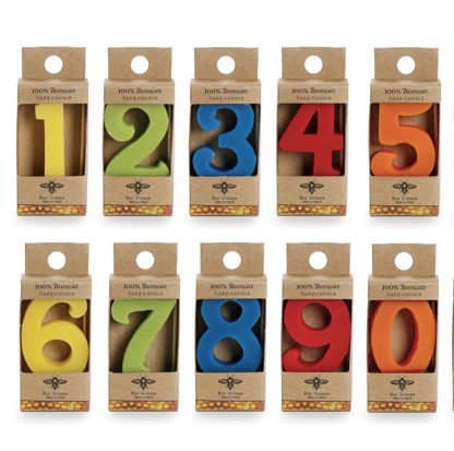 Big Dipper Birthday Number Cake Candles