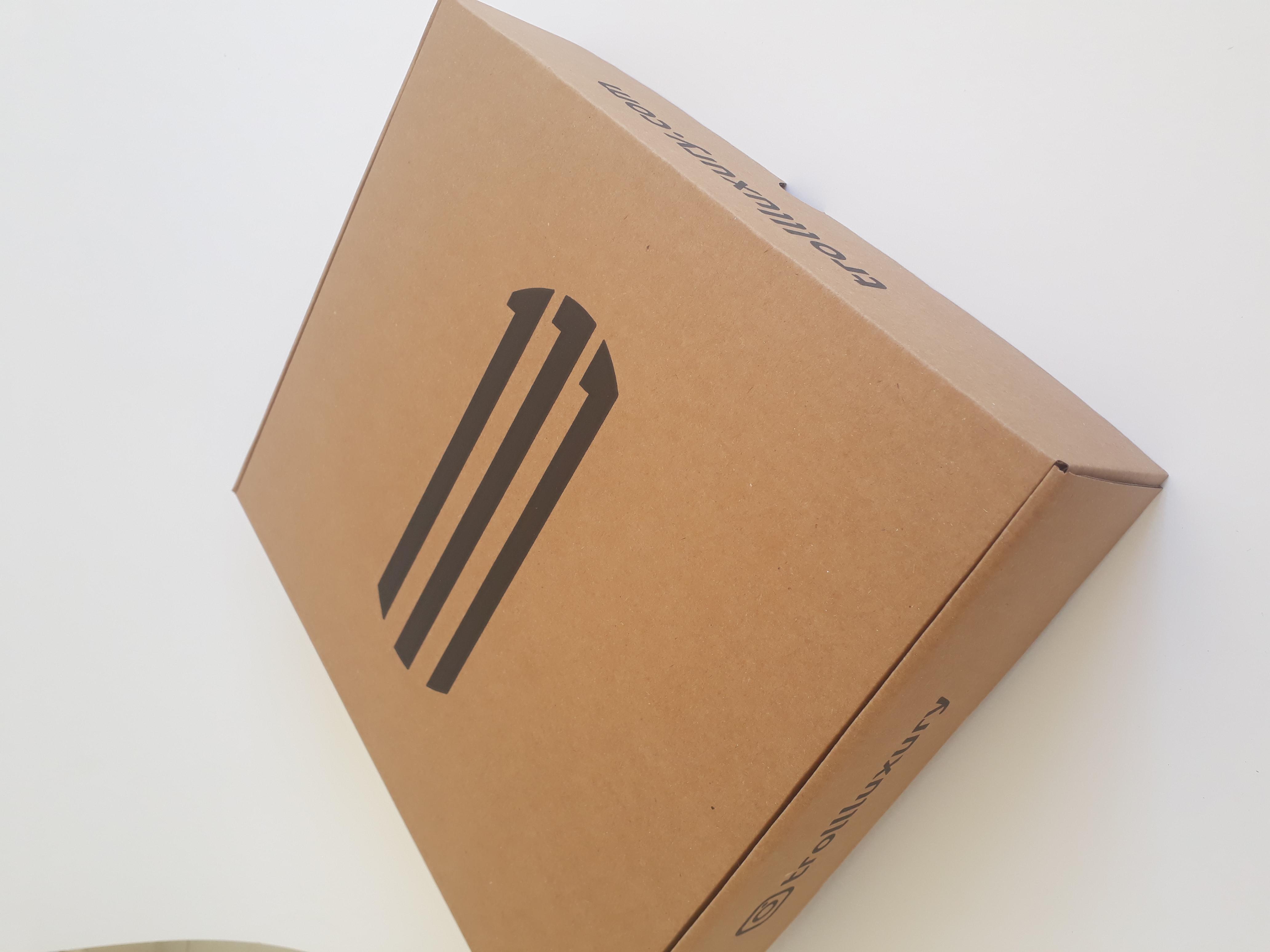 Tek renk flekso baskılı oluklu mukavva kutu