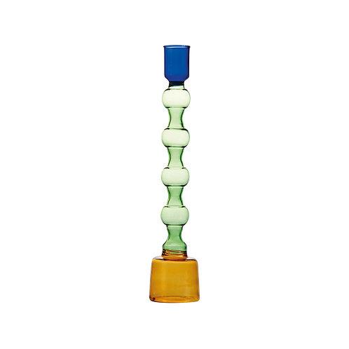 &k CANDLE HOLDER GLASS LARGE