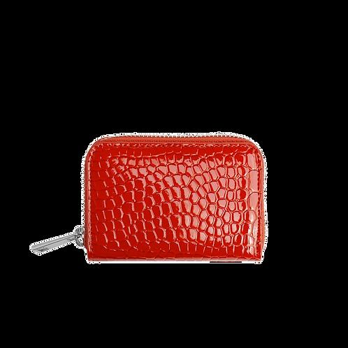HVISK WALLET ZIPPER CROCO ORANGE/RED