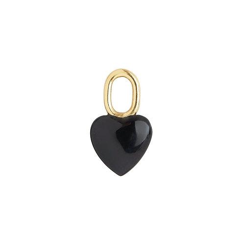 MARIA BLACK ONYX HEART CHARM