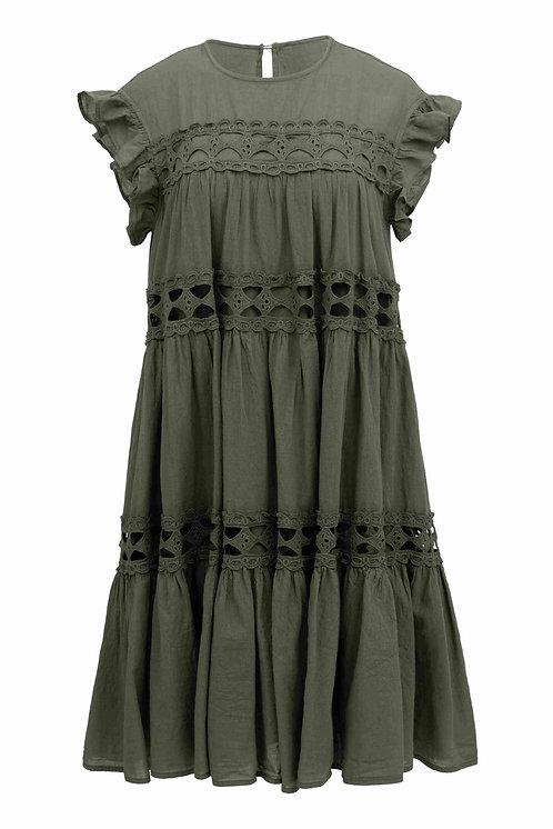 DEVOTION LISBON SHORT DRESS OLIVE