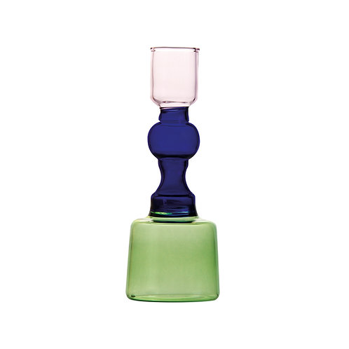&k CANDLE HOLDER GLASS SMALL