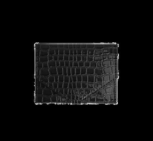 HVISK WALLET CROCO BLACK