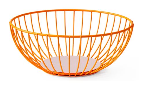 OCTAEVO IRIS WIRE BASKET LARGE ORANGE
