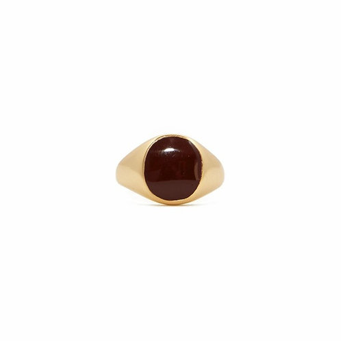 MIMI E TOI MEDIUM OVAL RESIN RING GOLD