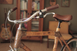 Bamboo crafted bicycle, by ArtBikeBamboo, hand made bamboo bike, bicicleta de bambu personalizada