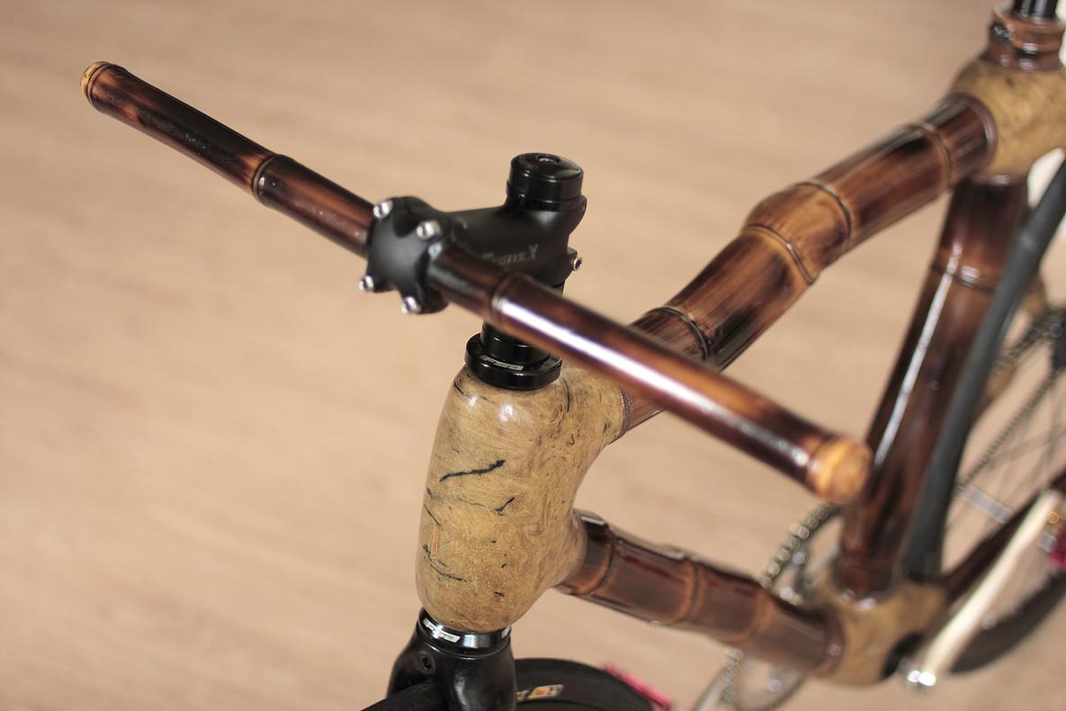 Fixed gear bamboo bike, hand made by ArtBikeBamboo, bicicleta fixa de bambu, personalizada