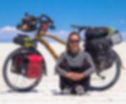 Chandrita, bamboo bike, bicicleta de bam