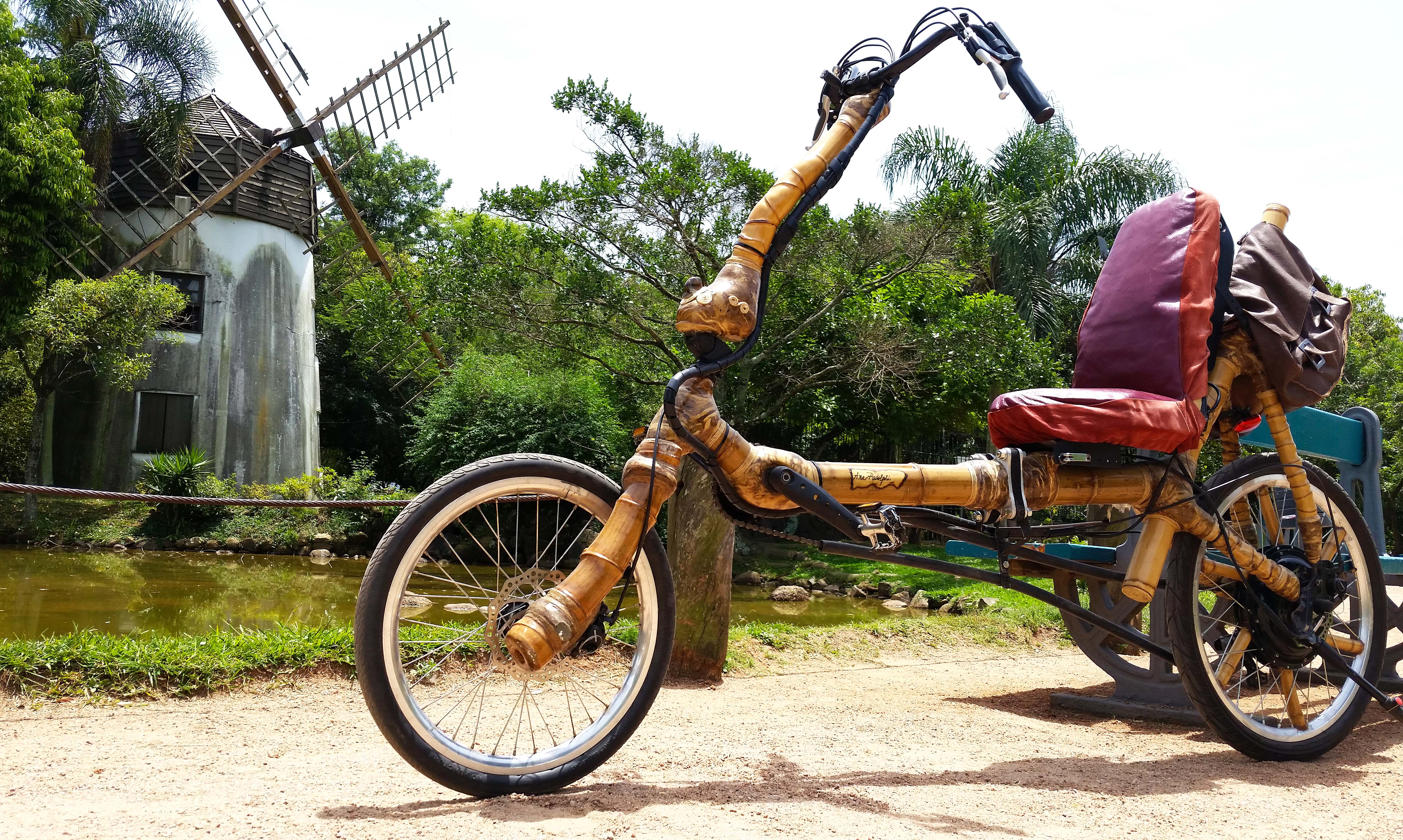 recumbent bike da ana bamboo bike bambu.