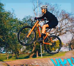 bamboo bike trail jumping
