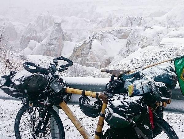 bicicleta de bambu no gelo bamboo bike b