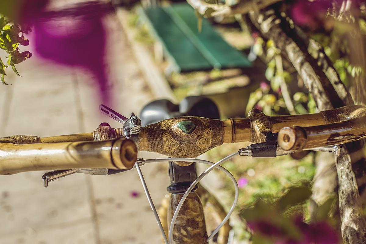 bamboo bike detail by ArtBikeBamboo bicicleta de bambu