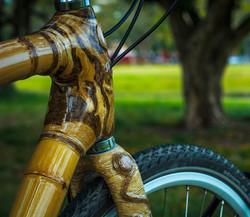 bicicleta de bambu para cicloturismo hand made bamboo bike, personalizada