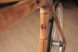 detail of a special bamboo bike by ArtBikeBamboo