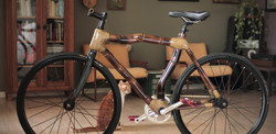 Handcrafted bamboo bike by ArtBikeBamboo, bicicleta de bambu personalizada speed fixa fixed gear