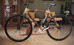 Special Fixed gear bamboo bike, hand made by ArtBikeBamboo, bicicleta fixa de bambu, personalizada