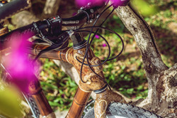 bamboo bike in every detail, made with love