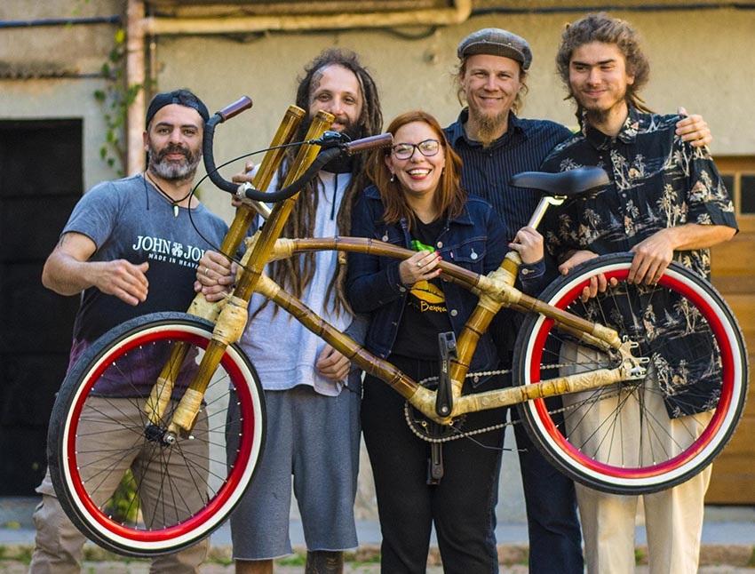 dimi grupo da Jeni bamboo bike bicicleta