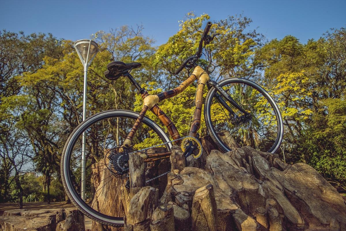 Bamboo bike hand made by ArtBikeBamboo, bicicleta de bambu personalizada