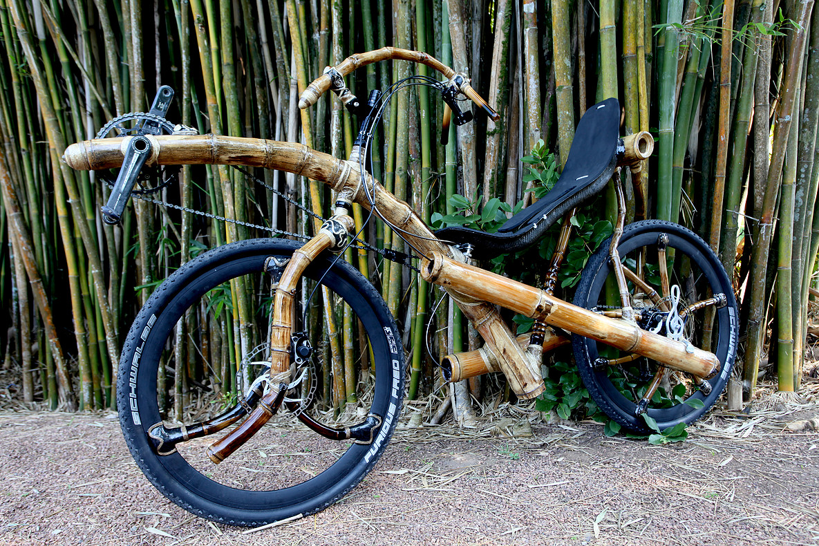Recumbent bike made with bamboo, handcrafted by ArtBikeBamboo