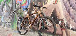 Bamboo 29er Mountain bike MTB handcrafted by ArtBikeBamboo, bicicleta de bambu personalizada para ti