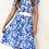 "Thumbnail: VINTAGE DRESS ""Blue Flowers"""