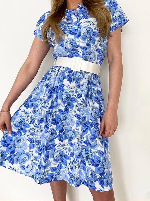"VINTAGE DRESS ""Blue Flowers"""