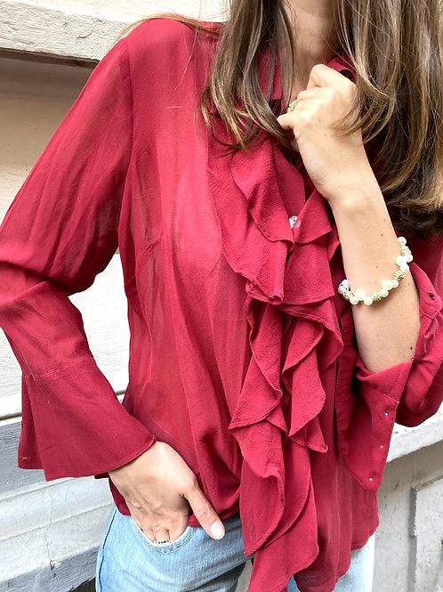 """BLUSE """"Silky Red"""""""