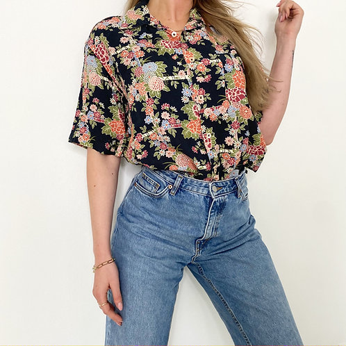 """VINTAGE BLUSE """"Mixed Flowers"""""""