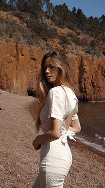 Backless tshirt in tencel