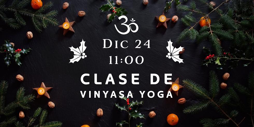 Clase de Vinyasa Navideña 24 Dic, 11:00 (Presencial + Zoom) (1)