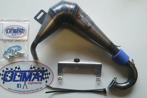 OLIMAT BAJA SX5/TSK-B CAGE EXHAUST PIPE - UNSILENCED