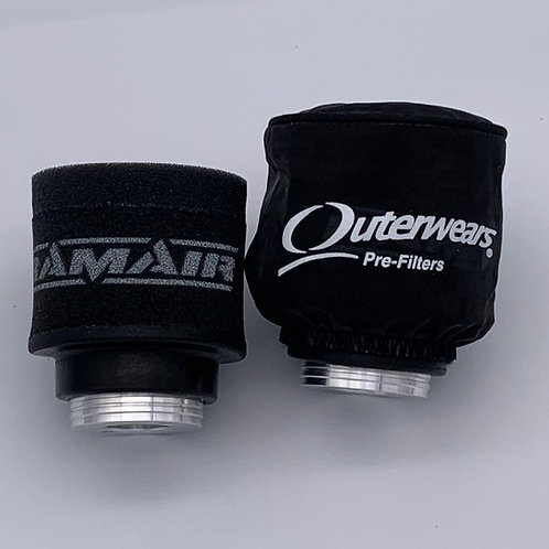 OUTERWEARS - WATER RESISTANT AIR FILTER COVER - BLACK