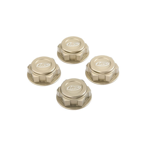 TLR Wheel Nuts, Captured (4): 5IVE-T, 5T 2.0, MINI