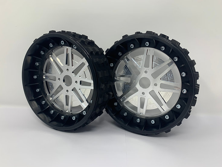 """PAIR OF CROSS-CUTTER 2"""" with Lightweight Centres for BRP Hubs"""
