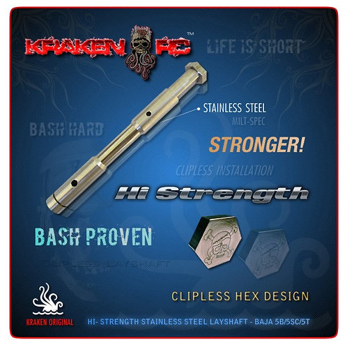 Kraken RC High Strength Clipless Layshaft for HPI Baja