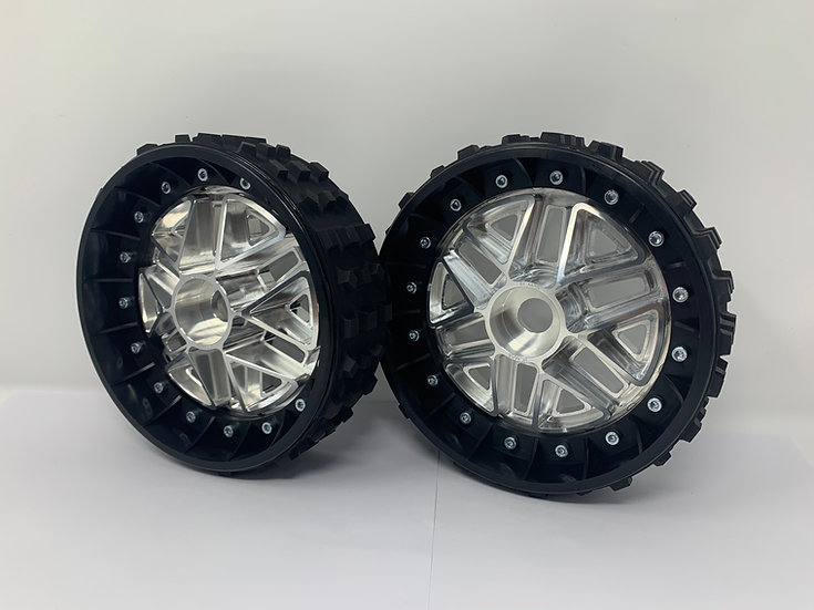 """PAIR OF CROSS-CUTTER 2"""" with 3D 24mm Hex Centres"""