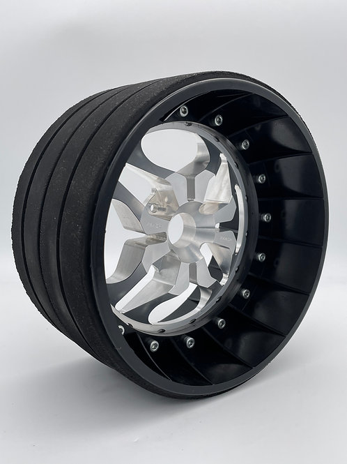 """PAIR OF 4"""" SLICKS with 3D 4 Bolt Centres"""