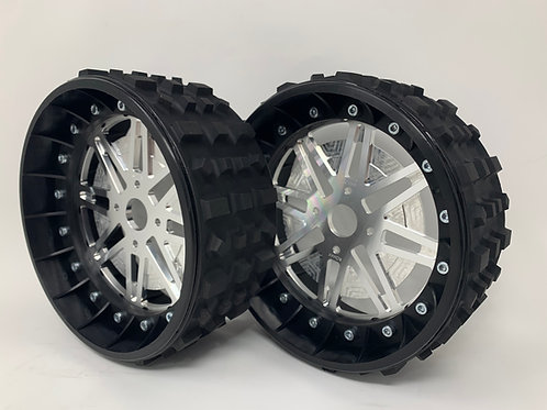 """PAIR OF CROSS-CUTTER 3"""" with Lightweight Centres for BRP Hubs"""