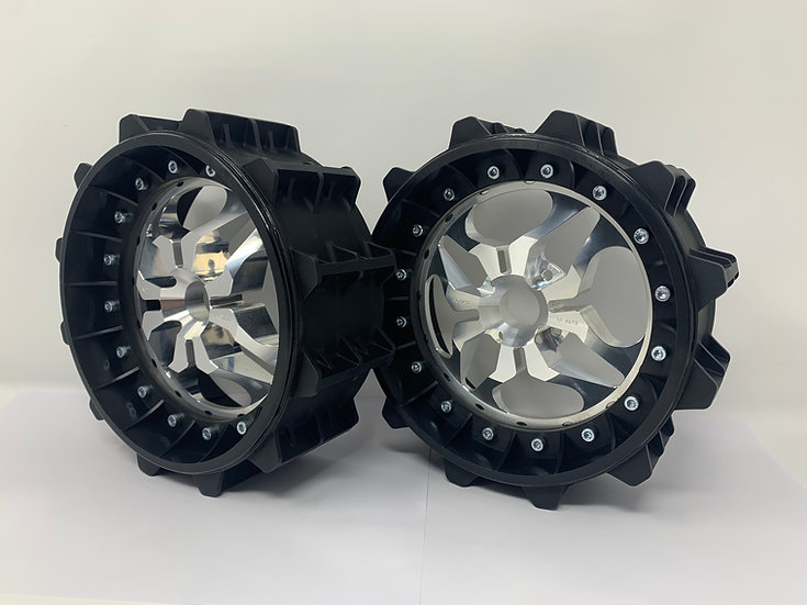 """PAIR OF SAND PADDLE 3"""" with 3D 4 Bolt Centres"""