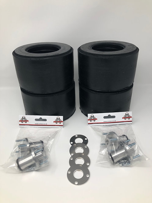 "LOSI / VEKTA BRP 7""x 4"" RACING SLICKS - COMPLETE KIT"