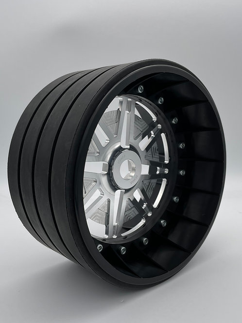 """PAIR OF 4"""" SLICKS with Lightweight Centres For 24mm HEX"""